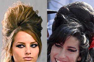 Karl Lagerfeld & Amy Winehouse Bring Back Retro Hair Style