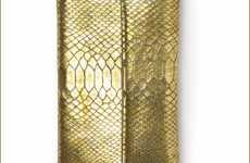 Gold Python Gadget Purse