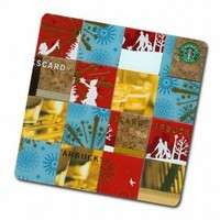 Starbucks Card Mosaic Coasters - Upcycled Art by Flawed Frock