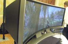 Wrap-Around Widescreen Gaming Monitor