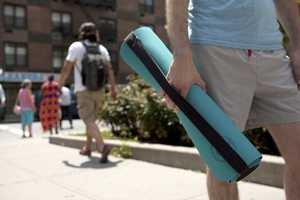 The Quirky Core Yoga Mat Stores Your Keys and Water Bottle