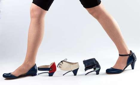 Stylishly Modular Shoes - Daniela Bekerman's Ze o Ze Footwear Offers Changeable Choices