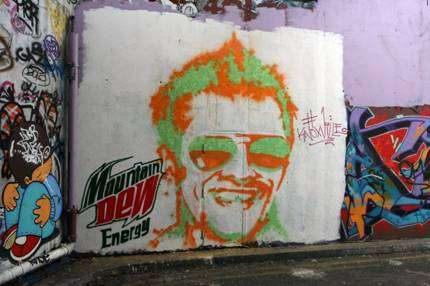 Paint Gun Graffiti Portraits - The Mountain Dew Street Art Video Paints the Town Green