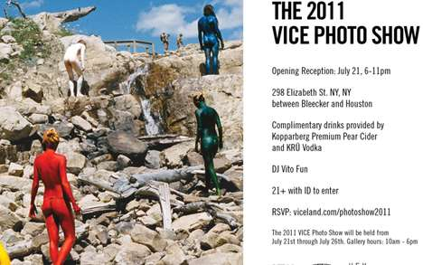 Scandalous Scented Invitations - The 2011 Vice Photo Show Invite Uses Scratch & Sniff Sensuality