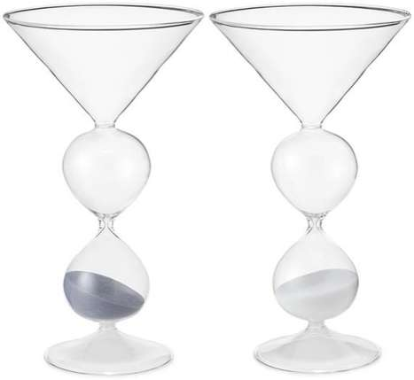 Hourglass-Shaped Martini Glasses