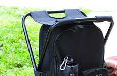 Triple Threat Camping Gear - The Tailgating Backpack Cooler Chair is a Travel Must-Have