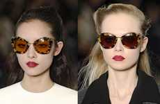 Retro Resurrection Sunnies - The Miu Miu Fall Sunglasses Collection is a Throwback to the 40s