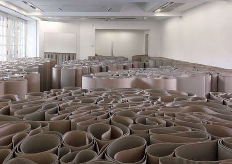 Cardboard Maze Exhibits - Michelangelo Pistoletto's Mirror of Judgment is Divinely Disorienting