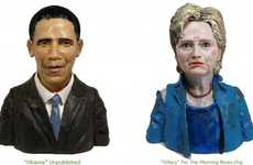 Plasticine Celebrity Portraits - Karen Caldicott Commemorates Iconic Public Figures Using Clay