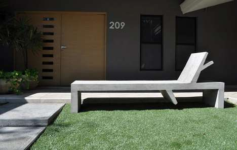 Concrete Chaise Longues - Ricardo Garza Marcos' Rama Bench is Simple Yet Sturdy