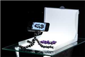 The Modahaus Table Top is Set-up for iPhone Jewelry Photography