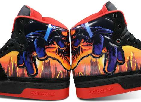 Vibrant Villainous Shoes - Star Wars Fans Will Love the Adidas Skyline Mid Darth Vader Shoes