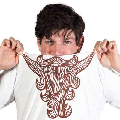 Hilariously Hairy Clothing - The Beard Shirt Gives You the Facial Hair You Always Wanted