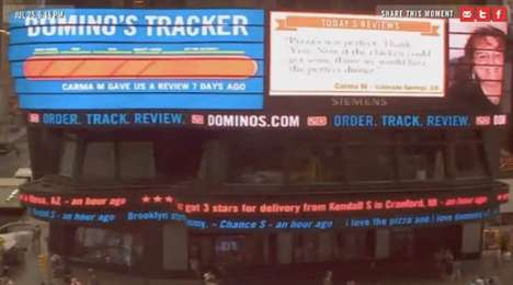 Dominos customer comment ticker