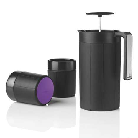 High-Fashion Coffee Makers - Drink in Style with the Paul Smith x Stelton 'Dot Press' Series