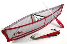 Convenient Camping Boats - The Adhoc Folding Canoe is Perfect for a Day on the Lake