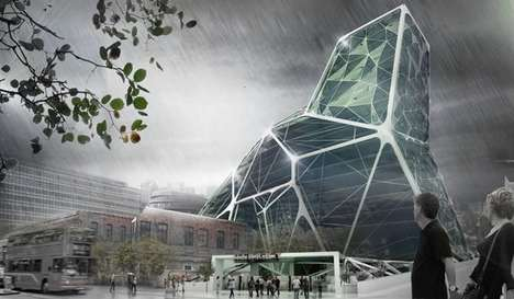 Sustainable Crystallized Structures - The London Farm Tower is a Solution to Food Crisis