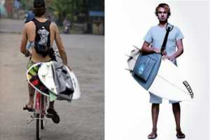 The Curve Surfboard Sling Makes Helps Carry the Deck with Ease