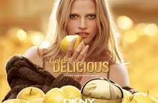 Fruity Fragrance Campaigns - The DKNY Golden Delicious Ad Stars a Sweet Lara Stone