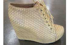 Basket-Weaved Footwear - The Jeffrey Campbell for Convert Shoes Collection is Vegan-Friendly