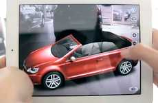 Showroom Auto Apps - The Volkswagen Virtual Golf Cabriolet Promotes Interactive Displays