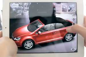 The Volkswagen Virtual Golf Cabriolet Promotes Interactive Displays