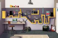 Du Cote de Chez Vous Designs Home Office Plan Inspired by NYC