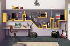 Du Cote de Chez Vous Designs Home Office Plan Inspired by NYC