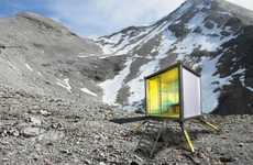 Easy-Up Alpine Shelters - Rifugio From Johannes Jaehrig Provides Climbers an Escape from the Cold