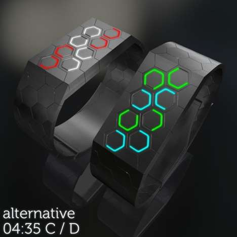 Hexagons LED watch