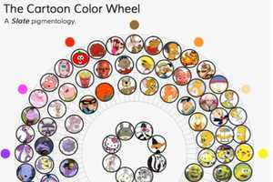 The Cartoon Color Wheel Tracks the Most Iconic Personalities