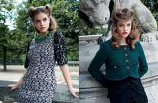 1940s Glamour Editorials - The Barbara Palvin Vogue Australia August 2011 Editorial is Retro Sharp