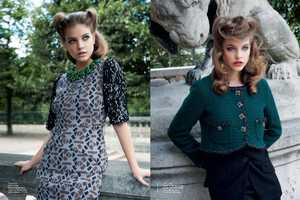 The Barbara Palvin Vogue Australia August 2011 Editorial is Retro Sharp