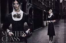 Naughty Nun Spreads - The Arizona Muse Freja Beha Erichsen Vogue UK Shoot Plays on Romance Rumors