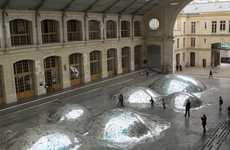 Trashy Music Artifact Installations - 'Waste Landscape' by Morin and Eliard Makes Use of Unsold CDs