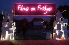 Unconventional Movie Screens - Films on Fridges Was Created Entirely From a Group of Volunteers