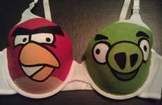 Irate Avian Undergarments - The Angry Birds Bra is Sultry and Squawky