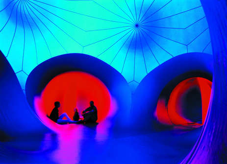 Colorfully Cavernous Exhibits