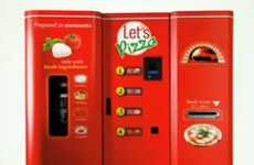 Pizza Vending Machines - 'Let's Pizza' Cooks a Snack for Consumers in Under Three Minutes