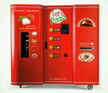 pizza real-time vending machine