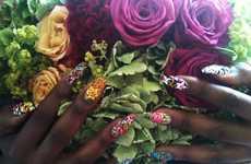 Vivacious Floral Manicures