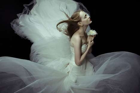 Withering Wedding Woe Shoots - Zhang Jingna SingaporeBrides Spread is Gripping & Ghostly
