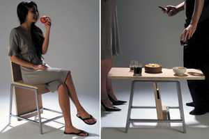 XY by Aissa Logerot Turns from Table to Chair