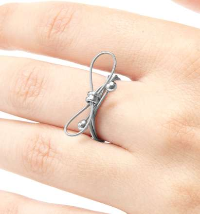 Dainty Instrument Ornaments - Guitar String Jewelry by Christopher Stiles is Tune-Tastic