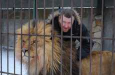 Risky Animal Activism Acts - Alexander Pylyshenko Lives with Lions to Raise Abuse Awareness