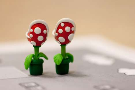 Mario YOUCH Piranha Plant Earrings
