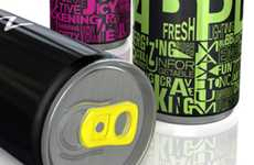 Neon Beverage Cans - The Zoda Energy Drink Boasts an Electrifying Package Design