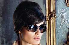 Refined Sixties Advertorials - Isabeli Fontana for Bottega Veneta Shows Off a Polished Beehive