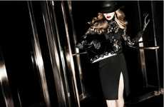 Ravishing Vintage Lookbooks - The Elisabetta Franchi FW11/12 Line Exudes Urbanite Elegance