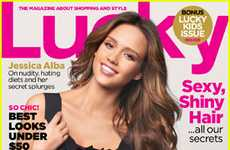 Superhero Starlet Shoots - The Jessica Alba Lucky Magazine September 2011 Spread is Simple and Chic